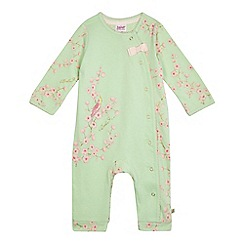 Baker by Ted Baker - Baby girls' light green footless sleepsuit