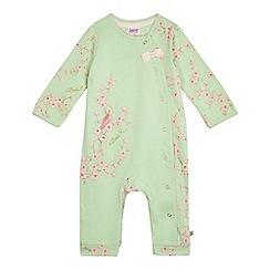 Baker by Ted Baker - Baby girls' light green footless sleepsuit