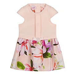 Baker by Ted Baker - Baby girls' pink textured floral print dress