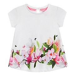 Baker by Ted Baker - Baby girls' white floral print swing top