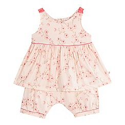 Baker by Ted Baker - Baby girls' pink rose print top and shorts set