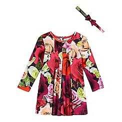 Baker by Ted Baker - Girls' pink dress and hairband set