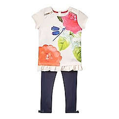 Baker by Ted Baker - Girls' pink dragonfly mock top and navy leggings set