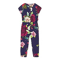 Baker by Ted Baker - Girls' navy rose print jumpsuit