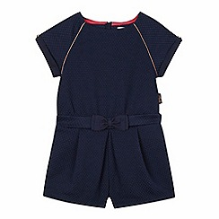 Baker by Ted Baker - Girls' navy textured bow detail playsuit