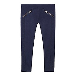 Baker by Ted Baker - Girls' navy quilted insert leggings