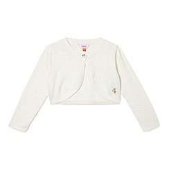 Baker by Ted Baker - Girls' off white intarsia bow cardigan