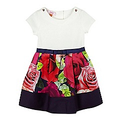 Baker by Ted Baker - Girls' white rose mock dress