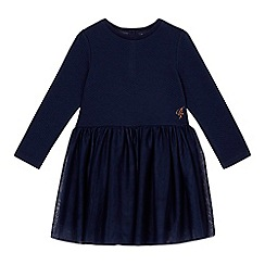 Baker by Ted Baker - Girls' navy textured mesh jersey