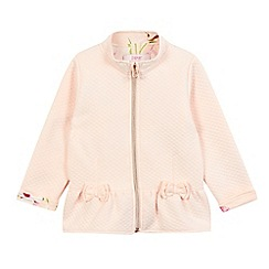 Baker by Ted Baker - Girls' light pink quilted sweater jacket