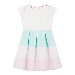 Baker by Ted Baker - Girls' white mock stripe dress