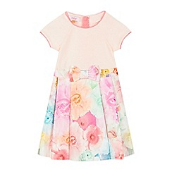 Baker by Ted Baker - Girls' pink mock floral dress