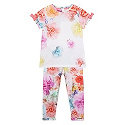 Baker by Ted Baker - Girls' pink floral print t-shirt and leggings set