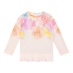 Baker by Ted Baker - Girls' pink floral sweater