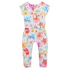 Baker by Ted Baker - Girls' off white floral jumpsuit