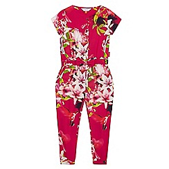 Baker by Ted Baker - Girls' pink floral print jumpsuit