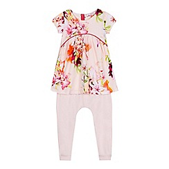 Baker by Ted Baker - Girls' pink floral print top and harem leggings set