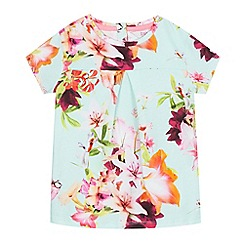 Baker by Ted Baker - Girls' light green floral hummingbird print top