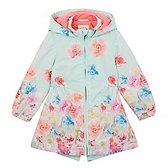 Baker by Ted Baker - Girls' light green floral mac coat