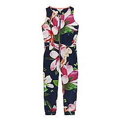 Baker by Ted Baker - Girls' multi-coloured floral print jumpsuit