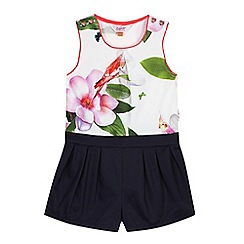 Baker by Ted Baker - Girls' navy floral print playsuit