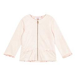 Baker by Ted Baker - Girls' pink rose print jacquard jacket