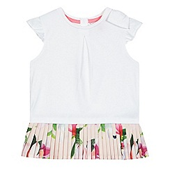 Baker by Ted Baker - Girls' white micro pleat top