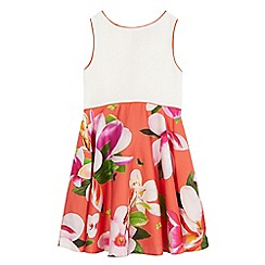 Baker by Ted Baker - Girls' ivory and orange floral print dress
