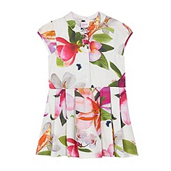 Baker by Ted Baker - Girls' white floral printed shirt dress
