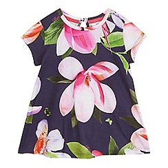 Baker by Ted Baker - Girls' navy floral print top