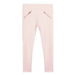 Baker by Ted Baker - Girls' light pink quilted leggings