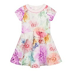 Baker by Ted Baker - Girls' purple floral print scuba dress