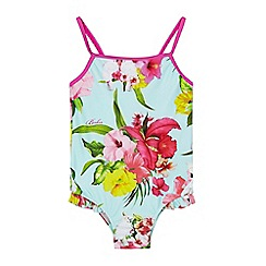 Baker by Ted Baker - Girls' light blue floral swimsuit