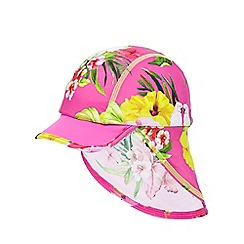 Baker by Ted Baker - Girls' pink floral kepi hat