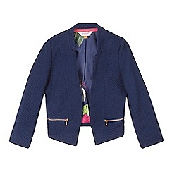 Baker by Ted Baker - Girls' navy textured zip detail jacket
