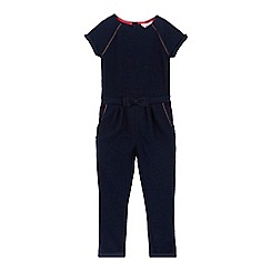 Baker by Ted Baker - Girls' navy textured jumpsuit