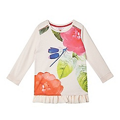 Baker by Ted Baker - Girls' pink dragonfly mock sweater