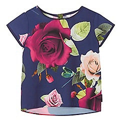Baker by Ted Baker - Girls' navy rose print top