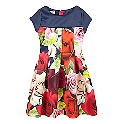 Baker by Ted Baker - Girls' navy rose print dress