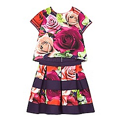 Baker by Ted Baker - Girls' pink rose top and skirt set