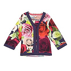 Baker by Ted Baker - Girls' navy rose kimono and cami set