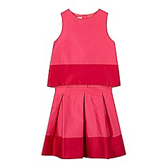 Baker by Ted Baker - Girls' pink colour block skirt set