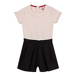 Baker by Ted Baker - Girls' pink textured top and culotte playsuit