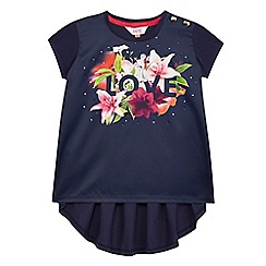 Baker by Ted Baker - Girls' navy studded floral print top