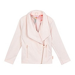 Baker by Ted Baker - Girls' pink textured biker jacket