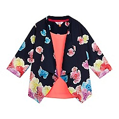 Baker by Ted Baker - Girls' navy floral print kimono and cami set