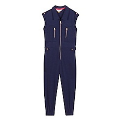 Baker by Ted Baker - Girls' navy shirt jumpsuit