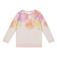 Baker by Ted Baker - Girls' pink floral print sweater