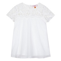 Baker by Ted Baker - Girls' white woven detail top