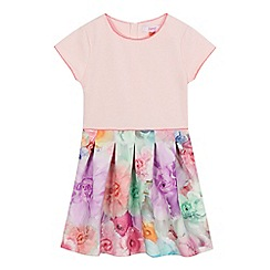 Baker by Ted Baker - Girls' pink floral skirt scuba dress